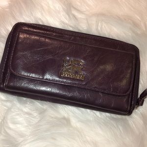 Kenneth Cole Reaction Eggplant Leather Wallet